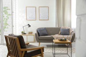 Modern,Living,Room,Interior,With,Comfortable,Sofa,And,Armchair